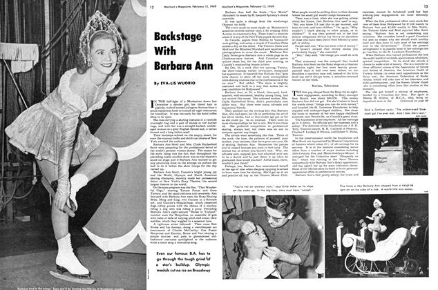 Article Preview: Backstage With Barbara Ann, February 1949 | Maclean's