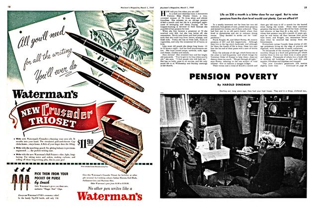 Article Preview: PENSION POVERTY, March 1949 | Maclean's