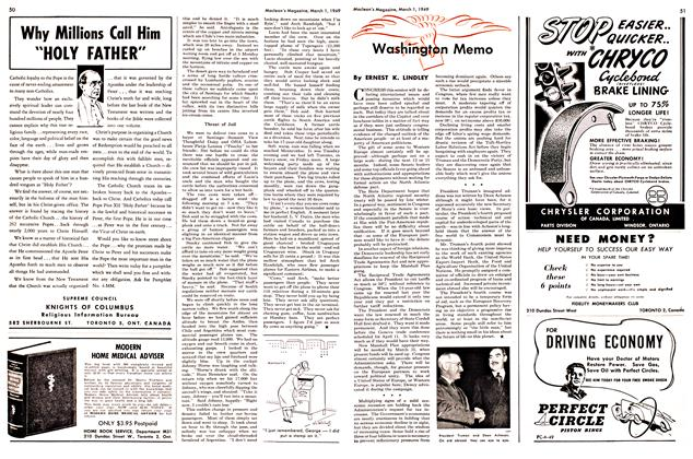 Article Preview: Washington Memo, March 1949 | Maclean's
