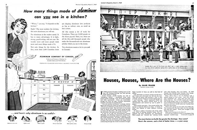 Article Preview: Houses, Houses, Where Are the Houses?, March 1949 | Maclean's