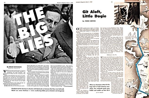 Article Preview: Git Aloft, Little Dogie, March 1949 | Maclean's