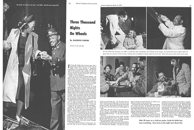 Article Preview: Three Thousand Nights On Wheels, March 1949 | Maclean's