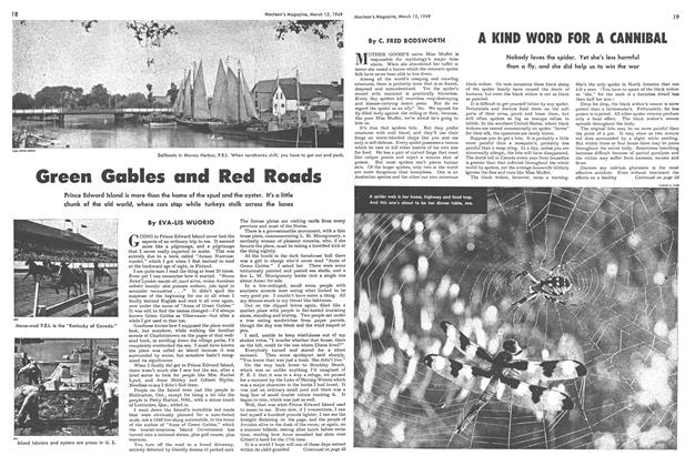 Article Preview: Green Gables and Red Roads, March 1949 | Maclean's