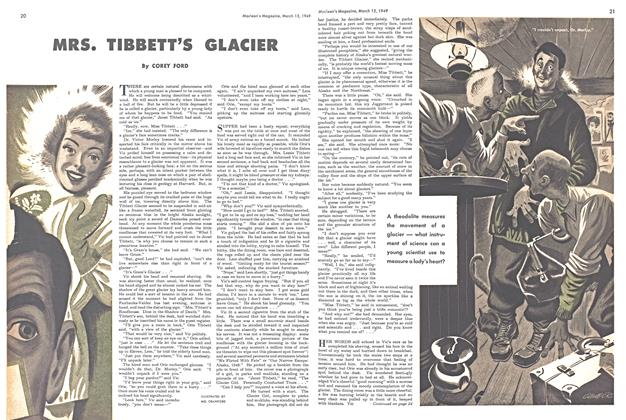 Article Preview: MRS. TIBBETT'S GLACIER, March 1949 | Maclean's