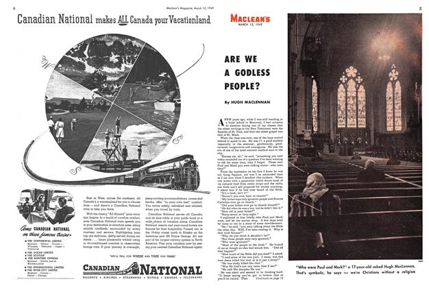 Article Preview: ARE WE A GODLESS PEOPLE?, March 1949 | Maclean's
