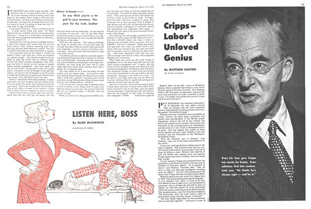 Article Preview: CrippsLabor's Unloved Genius, March 1949 | Maclean's