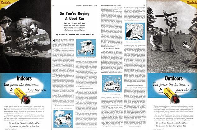 Article Preview: So You're Buying A Used Car, April 1949 | Maclean's