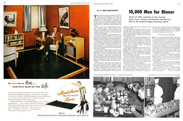 Article Preview: 10,000 Men for Dinner, April 1949 | Maclean's