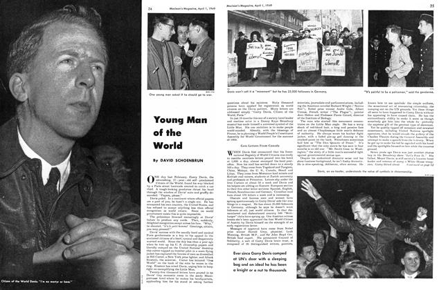 Article Preview: Young Man of the World, April 1949 | Maclean's