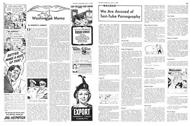 Article Preview: Washington Memo, April 1949 | Maclean's