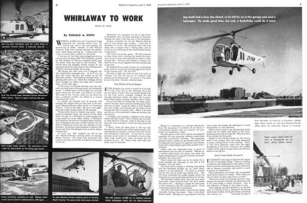 Article Preview: WHIRLAWAY TO WORK, April 1949 | Maclean's