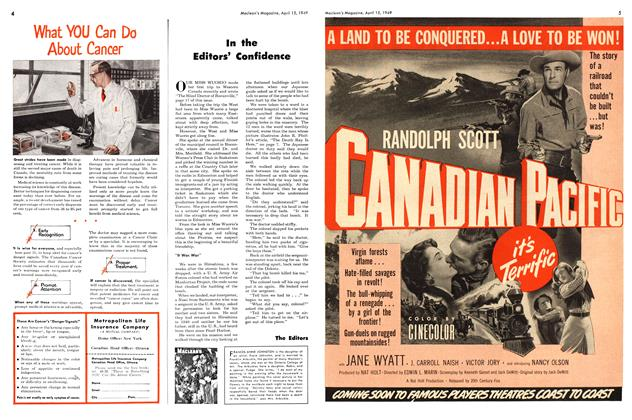 Article Preview: In the Editors' Confidence, April 1949 | Maclean's