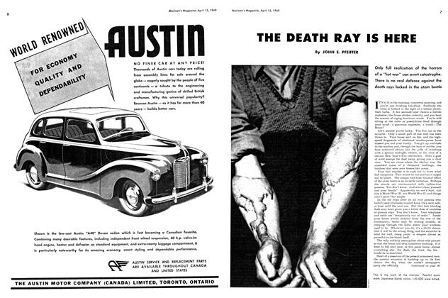 Article Preview: THE DEATH RAY IS HERE, April 1949 | Maclean's