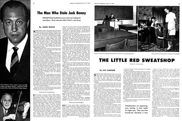Article Preview: THE LITTLE RED SWEATSHOP, April 1949 | Maclean's