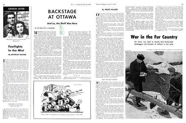 Article Preview: And Lo, the Shelf Was Bare, April 1949 | Maclean's