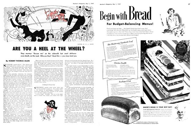 Article Preview: ARE YOU A HEEL AT THE WHEEL?, May 1949 | Maclean's