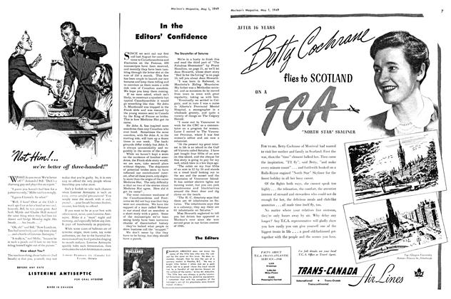 Article Preview: In the Editors' Confidence, May 1949 | Maclean's