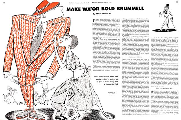 Article Preview: MAKE WAY FOR BOLD BRUMMELL, May 1949 | Maclean's