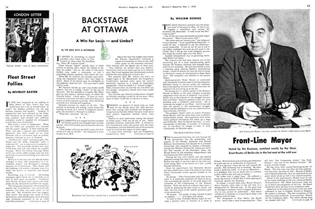 Article Preview: BACKSTAGE AT OTTAWA, May 1949 | Maclean's