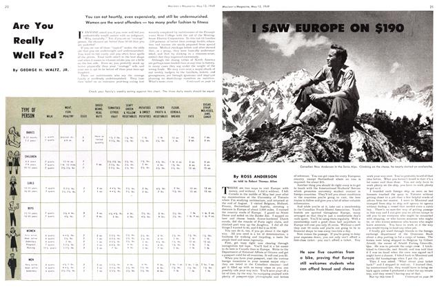 Article Preview: I SAW EUROPE ON $190, May 1949 | Maclean's