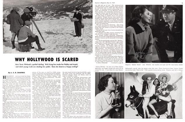Article Preview: WHY HOLLYWOOD IS SCARED, May 1949 | Maclean's