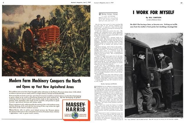 Article Preview: I WORK FOR MYSELF, June 1949 | Maclean's