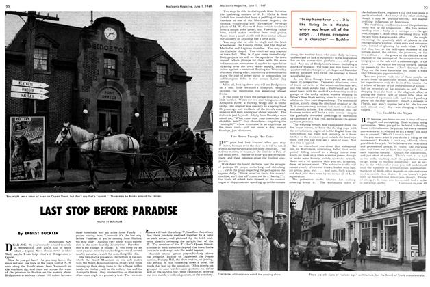 Article Preview: LAST STOP BEFORE PARADISE, June 1949 | Maclean's