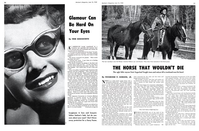 Article Preview: THE HORSE THAT WOULDN'T DIE, June 1949 | Maclean's