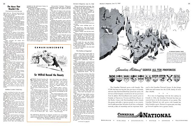 Article Preview: Sir Wilfrid Bussed the Beauty, June 1949 | Maclean's