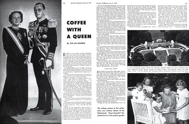 Article Preview: COFFEE WITH A QUEEN, June 1949 | Maclean's
