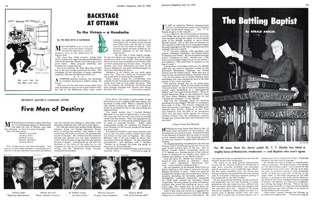 Article Preview: The Battling Baptist, June 1949 | Maclean's