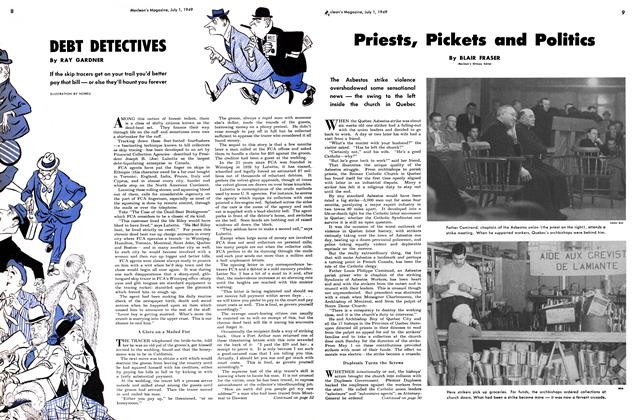 Article Preview: DEBT DETECTIVES, July 1949 | Maclean's