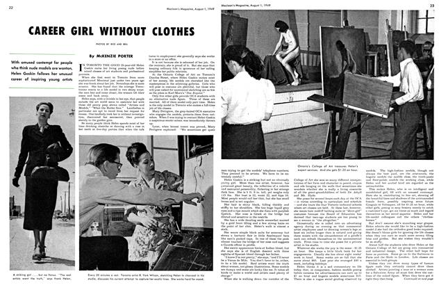 Article Preview: CAREER GIRL WITHOUT CLOTHES, August 1949 | Maclean's