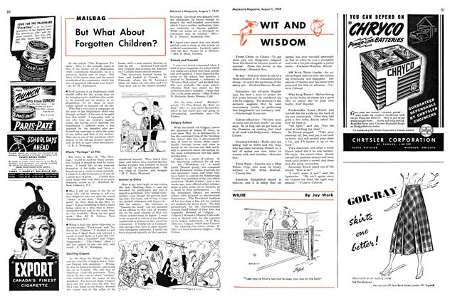 Article Preview: But What About Forgotten Children?, August 1949 | Maclean's