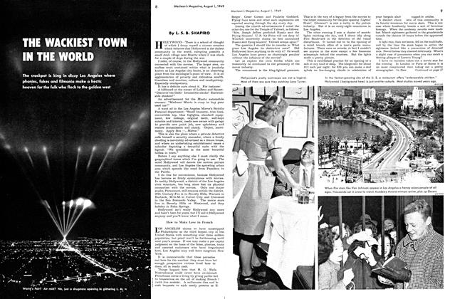 Article Preview: THE WACKIEST TOWN IN THE WORLD, August 1949 | Maclean's