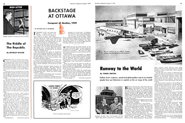 Article Preview: BACKSTAGE AT OTTAWA, August 1949 | Maclean's