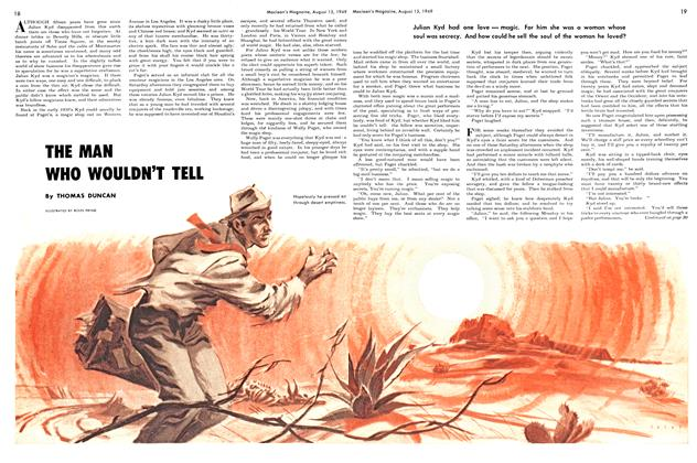 Article Preview: THE MAN WHO WOULDN'T TELL, August 1949 | Maclean's