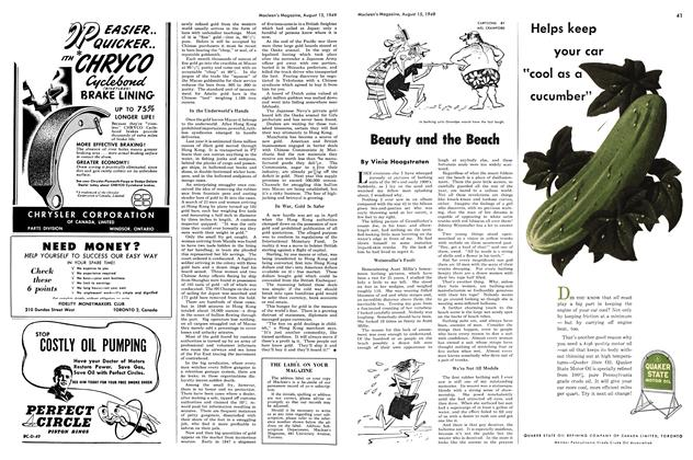 Article Preview: Beauty and the Beach, August 1949 | Maclean's