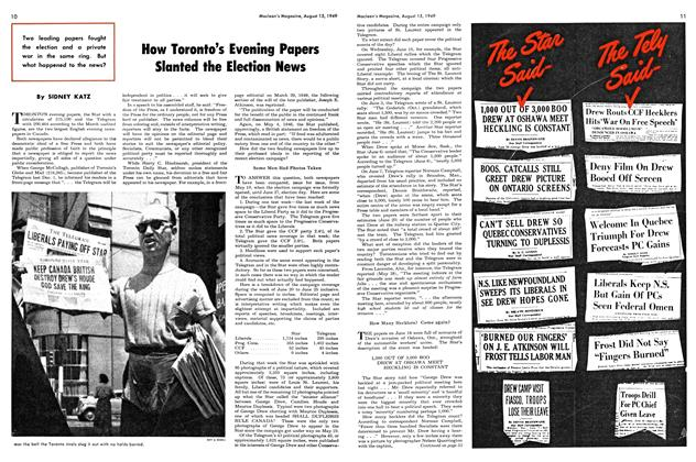 Article Preview: How Toronto's Evening Papers Slanted the Election News, August 1949 | Maclean's