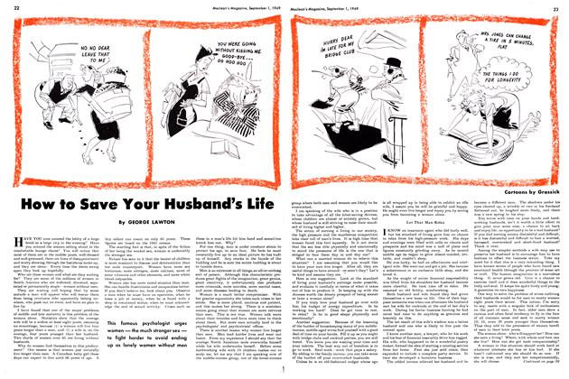 Article Preview: How to Save Your Husband's Life, September 1949 | Maclean's