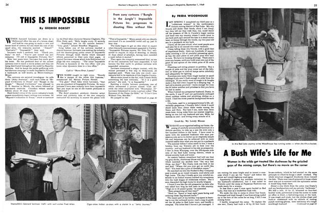Article Preview: A Bush Wife's Life for Me, September 1949 | Maclean's