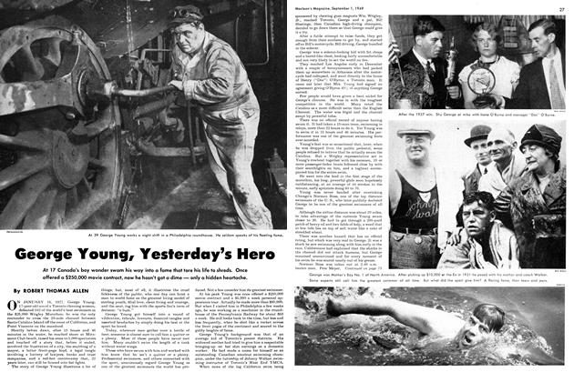 Article Preview: George Young, Yesterday's Hero, September 1949 | Maclean's