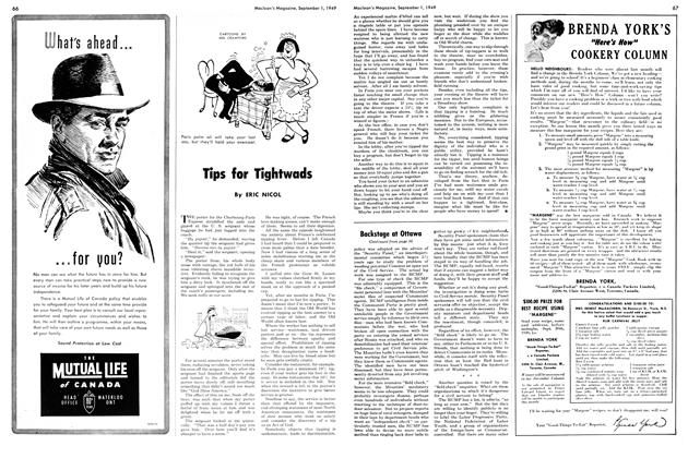Article Preview: Tips for Tightwads, September 1949 | Maclean's