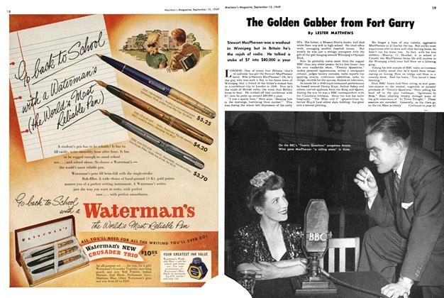 Article Preview: The Golden Gabber from Fort Garry, September 1949 | Maclean's