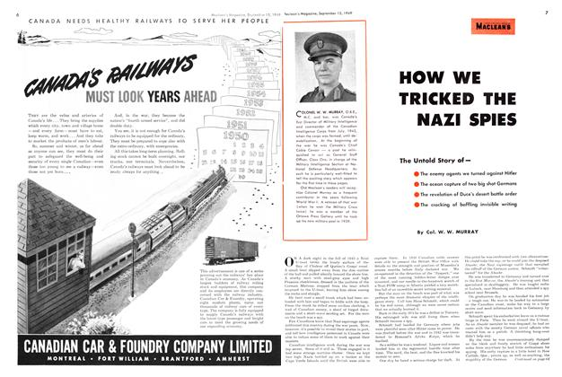 Article Preview: How we tricked the Nazi spies, September 1949 | Maclean's