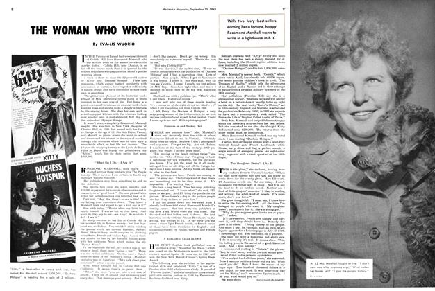 "Article Preview: THE WOMAN WHO WROTE ""KITTY"", September 1949 