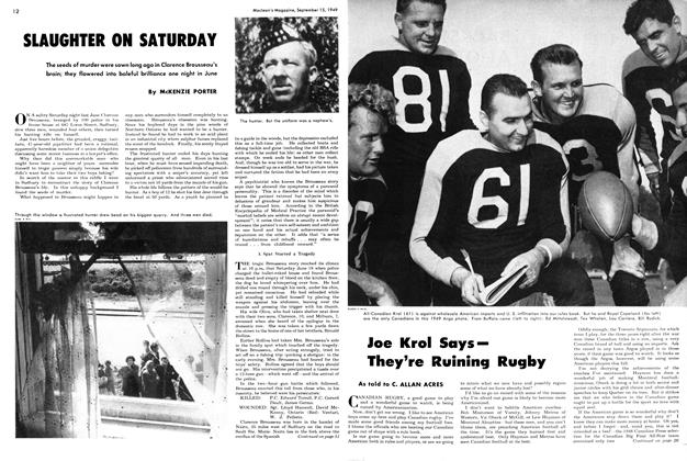 Article Preview: SLAUGHTER ON SATURDAY, September 1949 | Maclean's