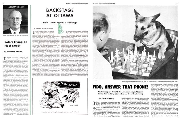 Article Preview: LONDON LETTER, September 1949 | Maclean's