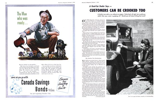 Article Preview: CUSTOMERS CAN BE CROOKED TOO, October 1949 | Maclean's