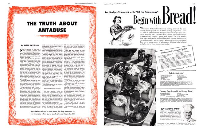 Article Preview: THE TRUTH ABOUT ANTABUSE, October 1949 | Maclean's